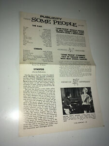 SOME PEOPLE Vintage Movie Pressbook 1962 UK Rock & Roll Ray Brooks