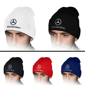 a2ce4733c Details about Mercedes Benz Beanie Hat Embroidered Auto Logo Winter  Baseball Cap Mens Womens