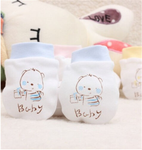 Baby Unisex Cute Warm Mittens Cotton Anti Scratch Soft Breathable Glove FO