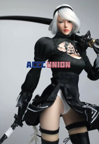 SUPERDUCK 1//6 Nier Automata YoRHa No.2 Type B Head Sculpt Phicen Figure Set USA