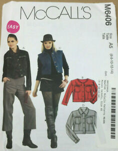McCalls-M6406-Misses-Jackets-Sizes-6-8-10-12-14-Uncut-Easy-Sewing-Pattern