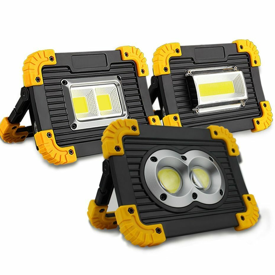Led Portable Spotlight Outdoor Rechargeable Battery Hunting Camping Flashlight