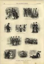 1878 Sketches During The Snowfall Social Types