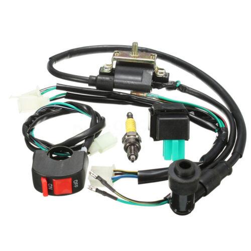 110CC 125CC 140cc Pit Bike Wiring Loom Kill Switch Coil CDI Spark Plug Kits