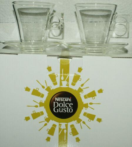 NESCAFÉ Dolce Gusto Cortado Gläser Tassen mit Tellern  2 Stück  Neu /& OVP
