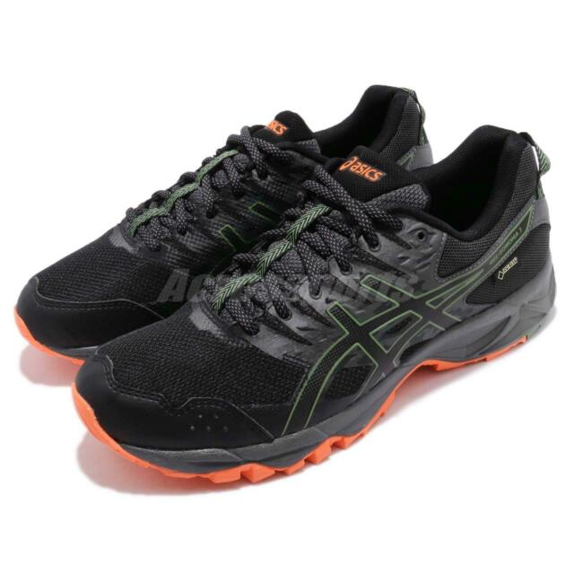 Asics Gel Sonoma 3 G TX Gore Tex Black Green Men Trail Running Shoes T727N 002
