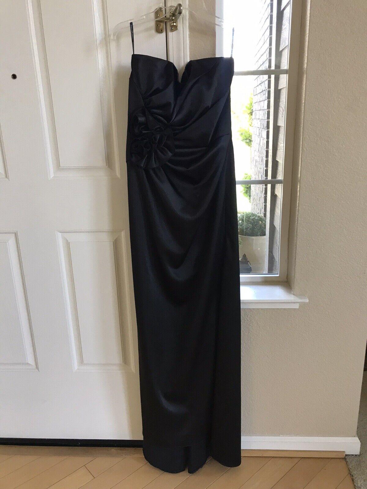 Jessica Mcclintock Long Formal Dress Ball Gown Black Size 10