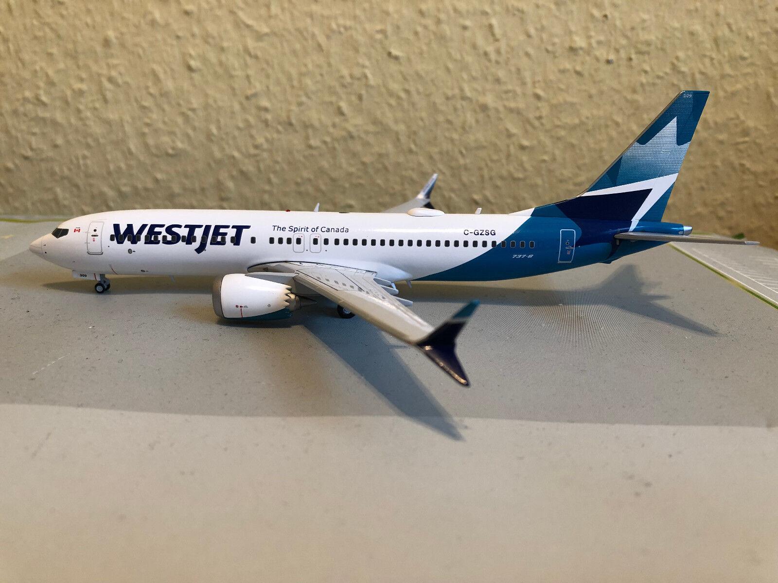 marca GeminiJets g2wja783 WestJet boeing b737 max-8 max-8 max-8 (New Livery) - C-gzsg, 1 200  la calidad primero los consumidores primero