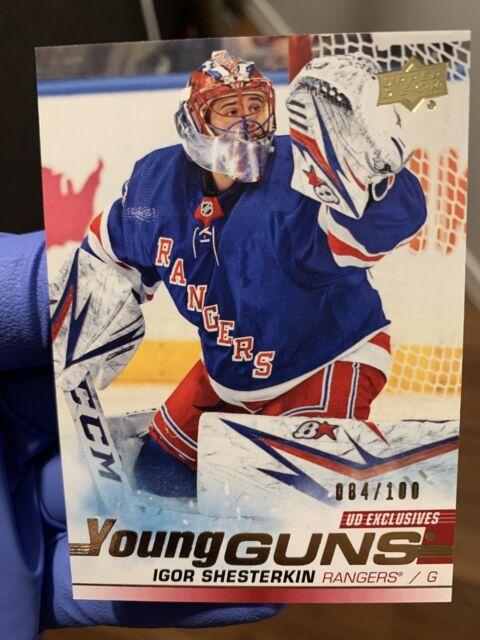 19/20 Upper Deck Update Igor Shesterkin NY Rangers Young Guns Exclusive #84/100