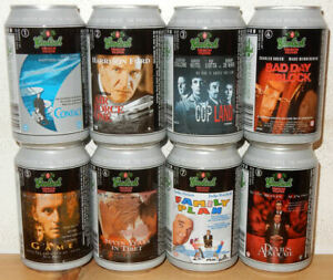 GROLSCH 8 cans MOVIE POSTERS  set from HOLLAND (33cl)  Empty !!