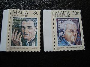 Malta-Briefmarke-Yvert-Und-Tellier-N-707-708-N-A22-Briefmarke-Malta