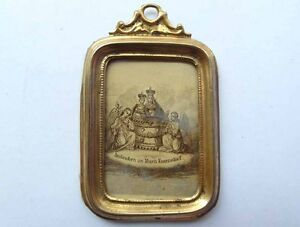 Antique-Frame-For-Doll-039-s-House-Brass-Erhard-amp-Sohne-Um-66-7oz493