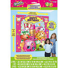 Shopkins Children's Birthday Party Plastic Wall Decoration Kit