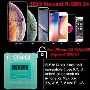 Details about RSIM 14 2019 RSIM Nano Unlock Card for iPhone XS  MAX/XR/XS/8/7/6 4G iOS 12 Lot