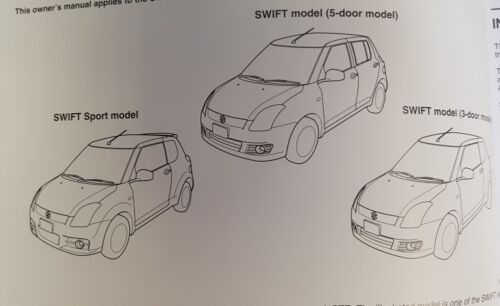 Genuine Suzuki Swift 2005-2010 OWNERS MANUAL manuel portefeuille Audio Pack D-399