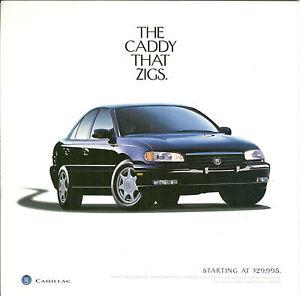 Cadillac Catera Dealer Sales Brochure Ebay