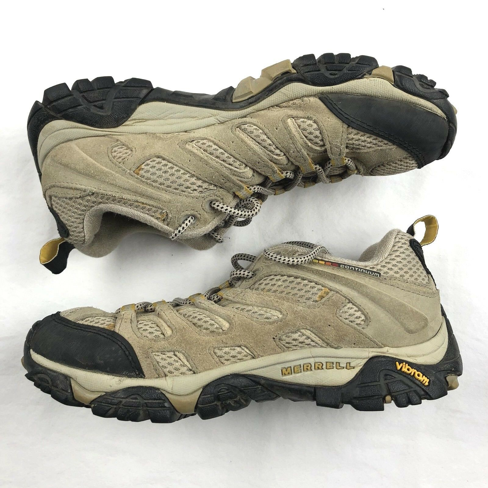 MERRELL Continuum Women's Trail Hiking shoes Taupe VIBRAM J86612 Size 7.5  120