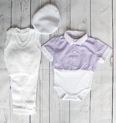 Baby Boy Battesimo Estate Vestito Battesimo Formale Partito Manica Corta 0-18 M- Forte Resistenza Al Calore E All'Usura Dura