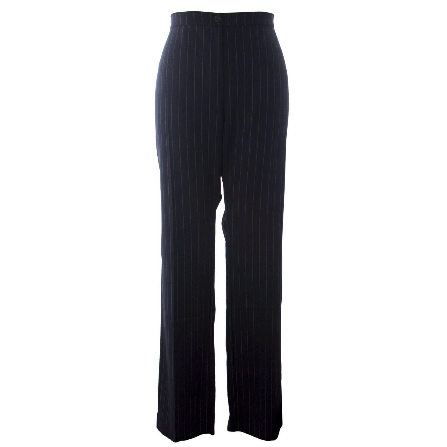 MARINA RINALDI Women's Navy Rapido Stripe High Waist Trousers NWT