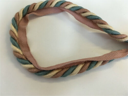 Coloured Flanged Curtain Upholstery Insertion Cord 10 Metres