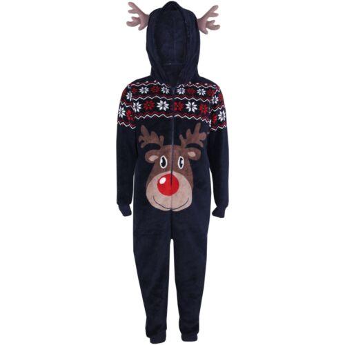 Kids Girls Boys A2Z Onesie One Piece Soft Fluffy Reindeer Xmas Costume 9-10 Year