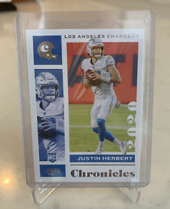 2020-21 Panini Chronicles Football Justin Herbert RC Rookie Card 🔥🔥🏈 NFL MINT