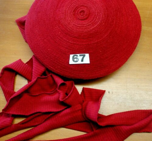 10m  x 4cm  Jersey stretch Bias CLARET 67
