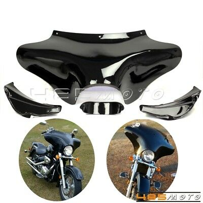 Black Front Batwing Upper Outer Fairing For Harley 1994-2012 FLHR Road King Tour