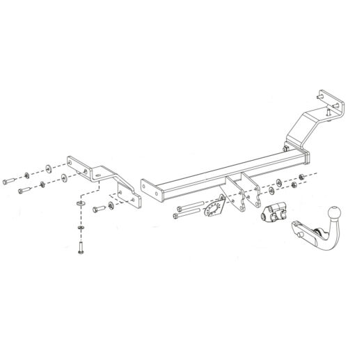 Oris Towbar for Hyundai i30 Hatchback 2011-2017 Detachable Tow Bar