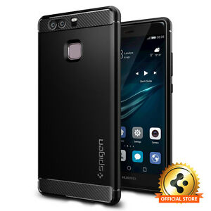 newest collection e495c 0bba5 Details about Spigen® Huawei P9 [Rugged Armor] Shockproof TPU Case  Protective Ultra Slim Cover