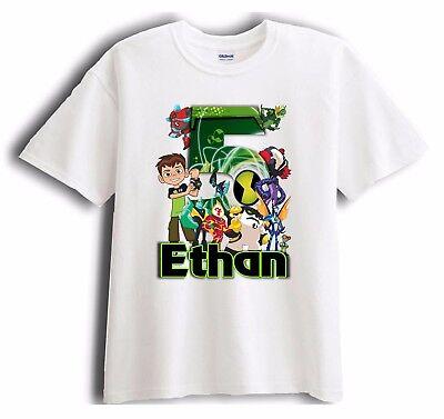 New Personalized Character Birthday Shirt Ben Ten