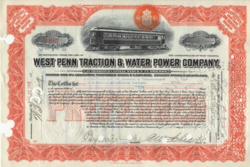 """10 DIFFERENT /""""RARE/"""" TROLLEY RELATED STOCK CERTIFICATES"""