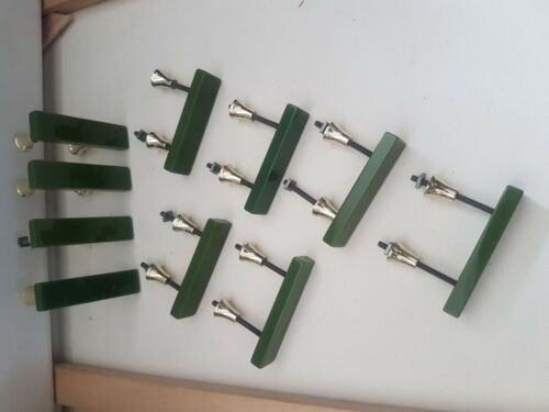 1960s ORIGINAL WILBEC MID CENTURY DOOR CUPBOARD HANDLES BNIB 10 IN EACH BOX
