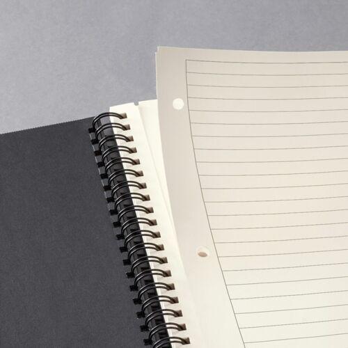 Sigel CO841 Spiralblock liniert A4 Hardcover schwarz 80 Blatt Notizblock Notiz