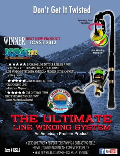 US Patented Fishing Line Winder Spooler //The Ultimate Line Winding System