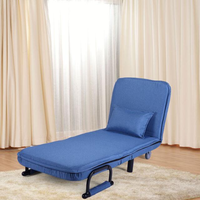 Fabulous Sofa Bed Arm Chair Convertible Single Dorm Couch Recliner Sleeper Folding Blue Short Links Chair Design For Home Short Linksinfo