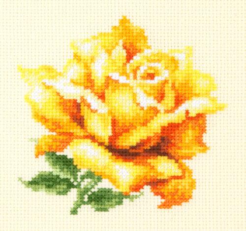 Puntada cruzada contada Kit Magic de aguja-Rosa Amarilla