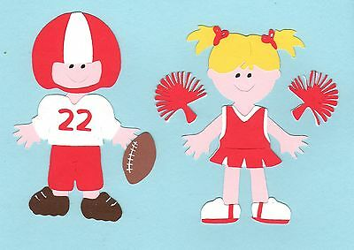 Football Player and Cheerleader Die Cut - Choose one or both - U choose colors