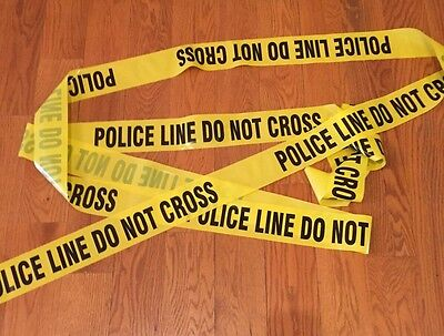 POLICE LINE DO NOT CROSS TAPE - 25 FEET - 3 INCH WIDE - SCENE CSI FBI