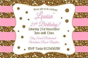 Personalised Birthday Party invitations 21st or any age x 10 - Bexleyheath, Kent, United Kingdom - Personalised Birthday Party invitations 21st or any age x 10 - Bexleyheath, Kent, United Kingdom