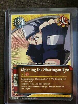 Naruto collectible card game Sharingan Eye card