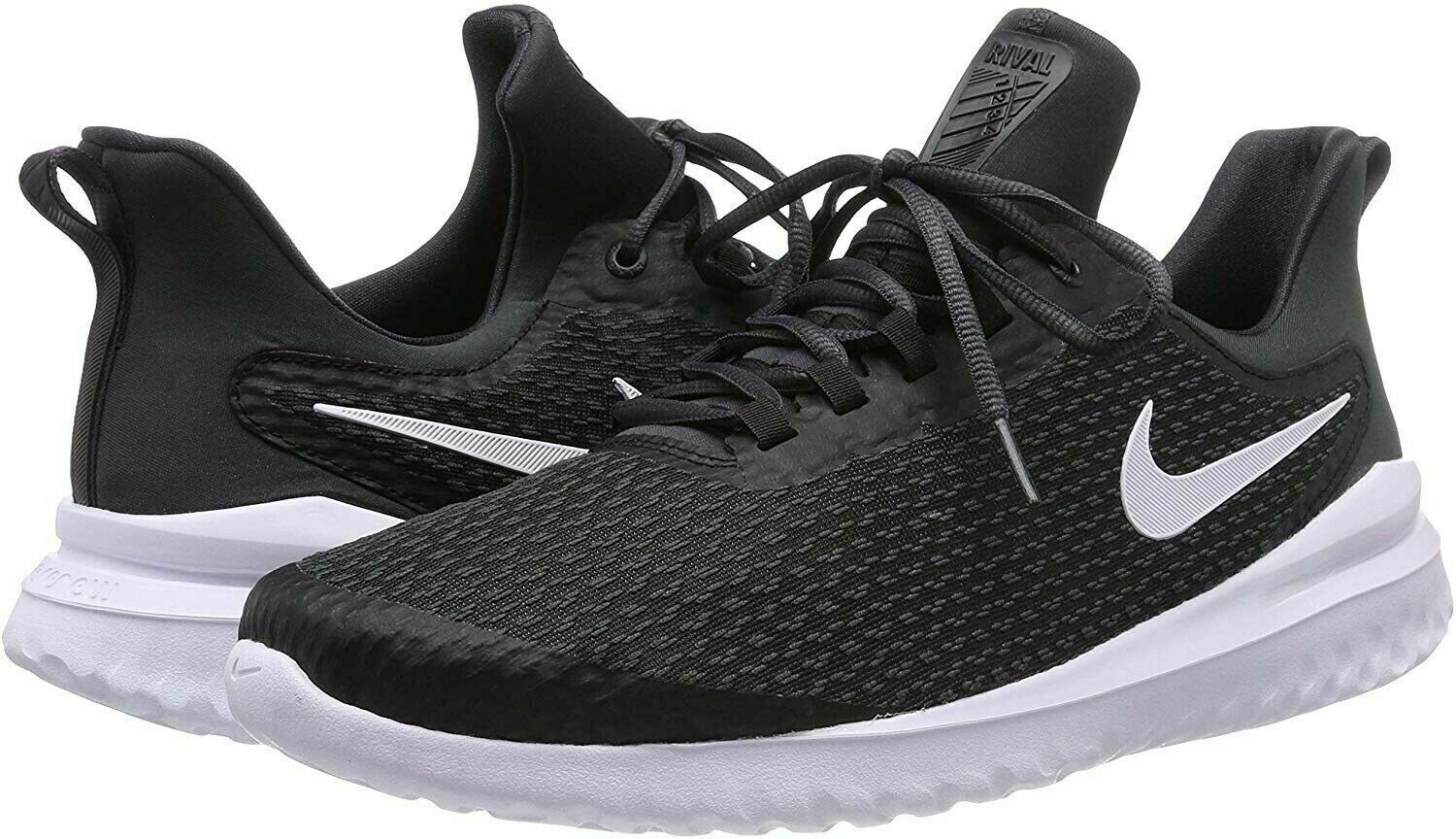 NIKE RENEW RIVAL BLACK WHITE (AA7400 001) Size 12.5 Men's New