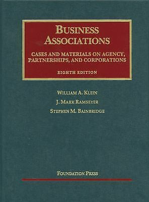 University Casebook: Business Associations, Cases and Materials on Agency, Partn