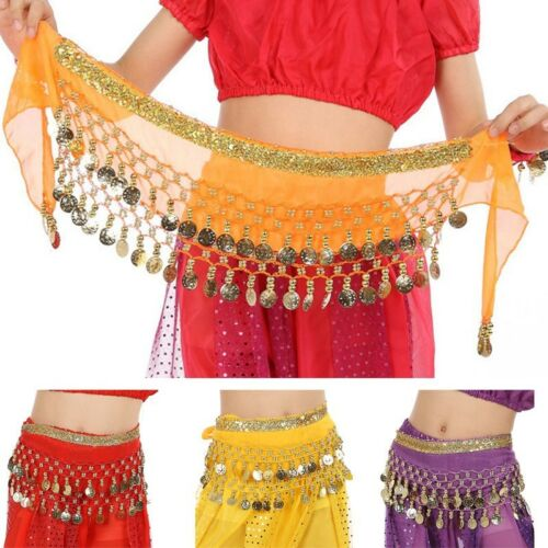 Belly Dance Hip Scarf Children Indian Dance Skirt Wrap Belt Carnival Costume 1pc