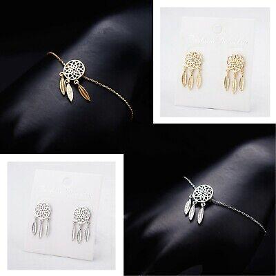 Womens Trendy Dainty Summer 18K Gold Twist Circle Karma Bracelet Jewellery Gift