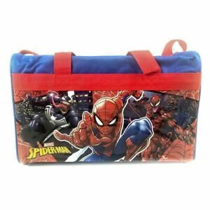 Marvel-Spider-man-600D-Polyester-Blue-amp-Red-Duffle-Bag-PVC-with-Side-Panels