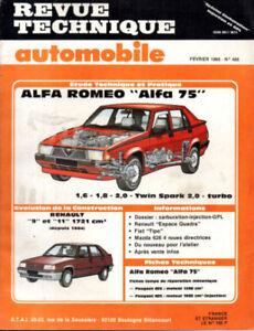 Mon ChéRi Rta Revue Technique Automobile N° 488 Alfa Romeo 75 1.6 1.8 2.0 Twin Spark Turbo
