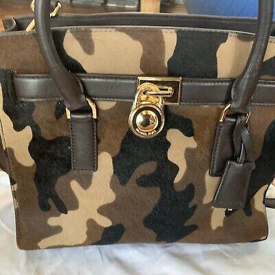 Michael Kors Tasche Umhängetasche Gold Camouflage, Hamilton, Tarn | eBay