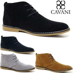 4307b9cb979f Details about Mens Cavani Desert Boots Suede Casual Lace Up Walking Chukka  Ankle Boots Shoes
