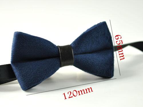 MEN Adult Pretied Velvet Bowtie Bow Tie Faux Leather Wedding over 10colors
